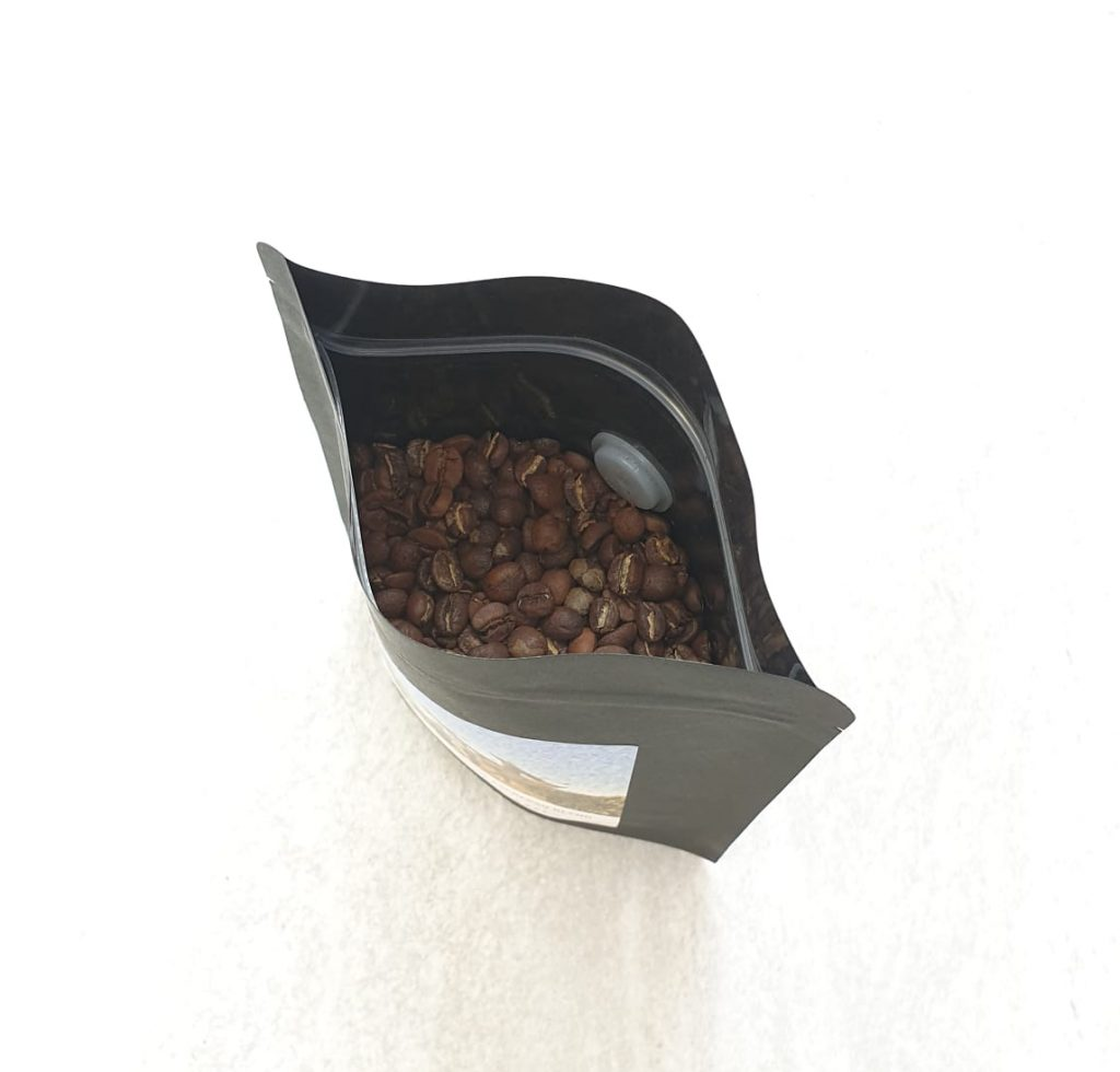 Open coffee bag